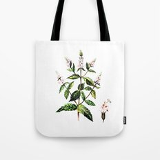 watercolor peppermint Tote Bag