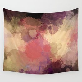 Modern Contemporary Ultra Violet Glow Abstract Wall Tapestry