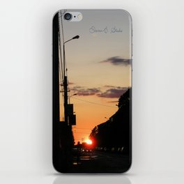 First stop, first sunset iPhone Skin