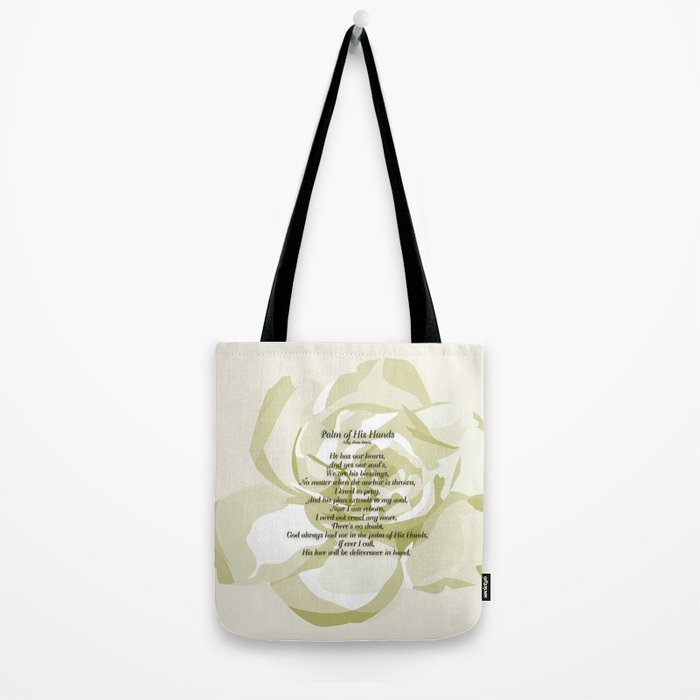 Palm of His Hands Tote Bag