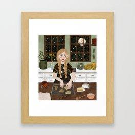 baking scones Framed Art Print