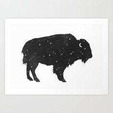 Mystic Buffalo  Art Print
