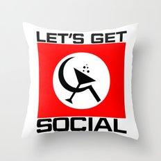 Let's Get Social Throw Pillow