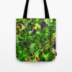 Green Marbleized Pattern Tote Bag