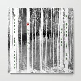 Mirror of nature Metal Print
