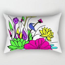 Bird on a pond Rectangular Pillow