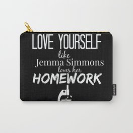 Love Yourself like Jemma Simmons Loves Her Homework - AoS Carry-All Pouch