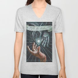 Fight the Darkness Unisex V-Neck
