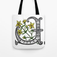 marc johns Tote Bags featuring St Johns Wort by amyrose