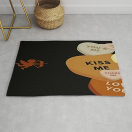 Cupid in search mode-Sepia Rug