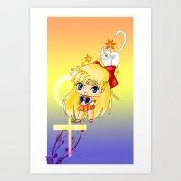 sailor venus Art Prints featuring Sailor Venus by artwaste