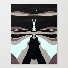 My Night Shape: The Hare Canvas Print