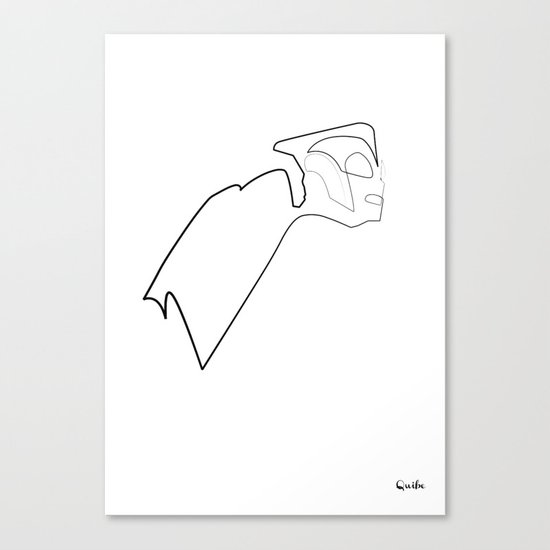One line Rocketeer Canvas Print