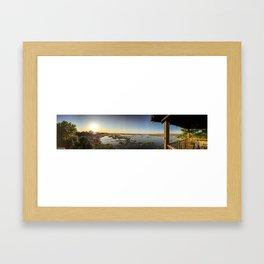 Marshy Sunset Framed Art Print