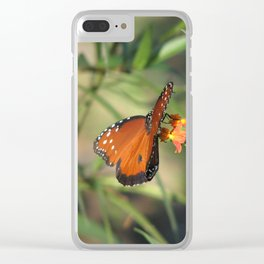 Queen monarch butterfly Clear iPhone Case