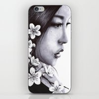 sakura iPhone & iPod Skins featuring Sakura by Nester Formentera