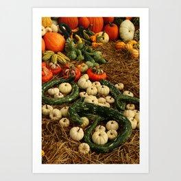 Autumn Time Harvest Time Art Print