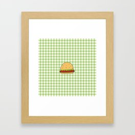 Hamburguer Framed Art Print