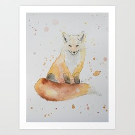 The Wise Fox Art Print