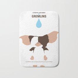 No451 My Gremlin minimal movie poster Bath Mat