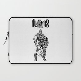 The Darkslayer, Black and White Laptop Sleeve