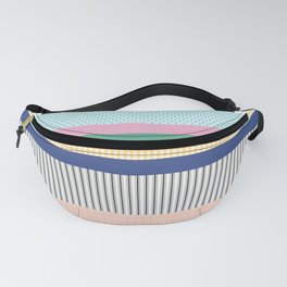 Stripes Mixed Print and Pattern with Color blocking Fanny Pack