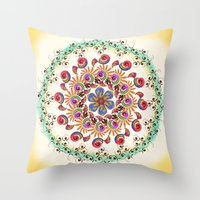 mandala Throw Pillows featuring Mandala  by famenxt