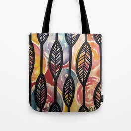 Leather Feaf Tote Bag