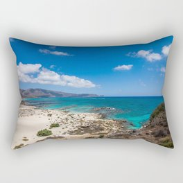 Elafonisi Island Beach - Crete, Greece Rectangular Pillow