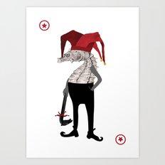 Red Joker Art Print