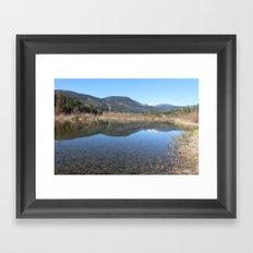 Reflecting Stillness Framed Art Print