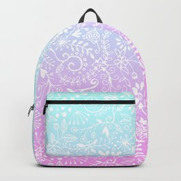 Floral Gradient - Pink and Turquoise Backpack