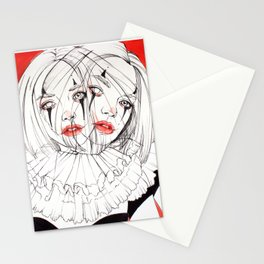 Carnival Clowns Stationery Cards
