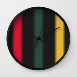 Jamaican Gradient Stripes Wall Clock