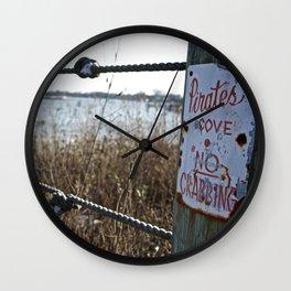 No Crabbing Wall Clock