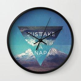 Just Take A Nap Wall Clock