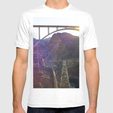 Hoover Dam Electicity Towers MEDIUM White Mens Fitted Tee