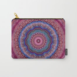 Colorful Agate Mandala Carry-All Pouch