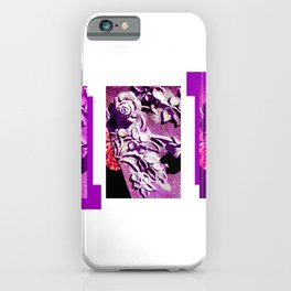 Purple and Pink Concrete Roses Grave Photo at Historic Maple Hill Cemetery in Huntsville Alabama  iPhone Case