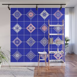 Talavera Mexican Tile – Pink & Periwinkle Palette Wall Mural