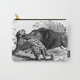 Cheetah v. Boar Carry-All Pouch