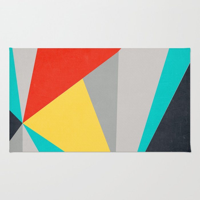 Aggressive Color Block Rug