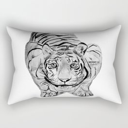 Tiger Attack Rectangular Pillow