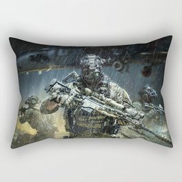 Night time Sniper Hunting Rectangular Pillow