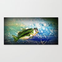 bass Canvas Prints featuring Bass by Christina Miller