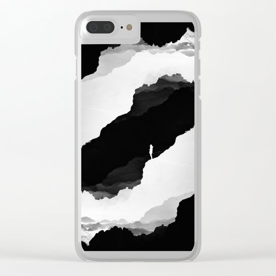 Black Isolation Clear iPhone Case