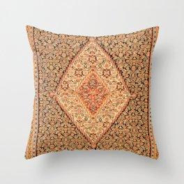 Senneh  Antique Kurdistan North West Persian Kilim Throw Pillow