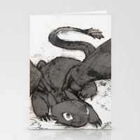 toothless Stationery Cards featuring Toothless by SpaceMonolith