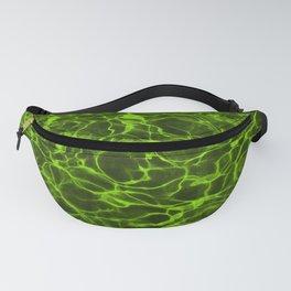 Neon Green Underwater Wavy Rippling Water Fanny Pack