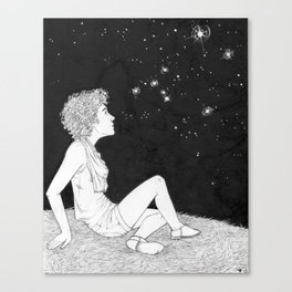 They Just Blink at Us (Sirius) Canvas Print